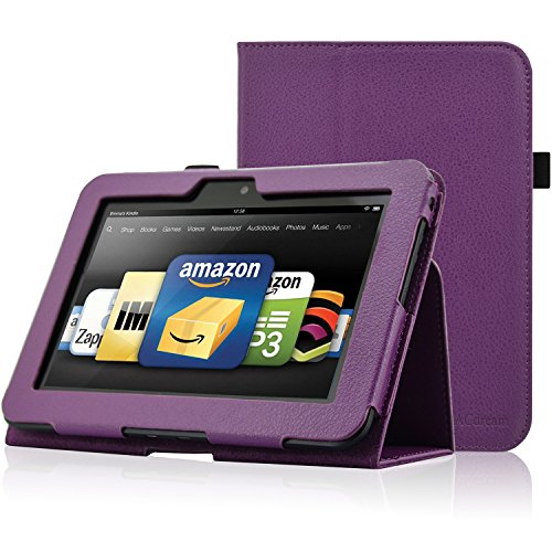 ACdream Kindle Fire HD 7 (2012 Version) Case, Amazon Kindle Fire HD7 (2012 Previous Model) Case - PU Leather Cover Case for Kindle Fire HD 7(2012 Version) with Auto Sleep Wake Function, Purple