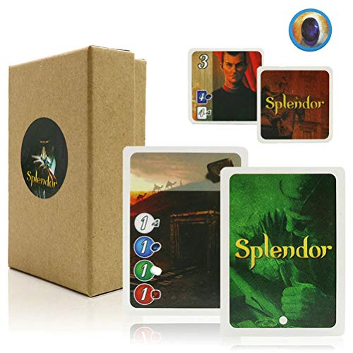 LQT Ltd Splendor Card Games, Board Game Full English Version for Home Party Adult Financing Family Playing Cards Game