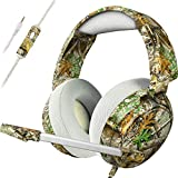 Gaming Headsets PS4 Headset for Xbox One PS4 PC, Pro 50mm Driver & Stereo Surround Sound, Updated Noise Cancelling Mic Headphones for PS4, Xbox One S, PC, PS2, PS3, Nintendo Switch Mac, Laptop