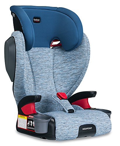 Britax Highpoint Belt-Positioning Booster Seat - 40 to 120 pounds - 3 Layer Impact Protection, Seaglass