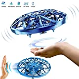 zegoal Hand Controlled Drones Scoot for Kids or Adults Hand Free Mini Flying Ball Drones Toys Indoor Infrared Induction Flying Ball for Boys and Girls (Blue)