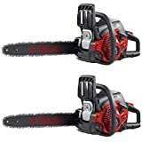 Poulan Predator 42cc 18 Inch SuperClean Light Duty Gas Fueled Handheld Chainsaw (2 Pack)