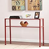 Product review for Southern Enterprises Glass Console Table, Red Finish