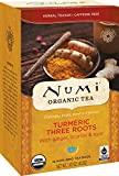 Numi Organic Tea Three Roots, 12 Count Box of Tea Bags (Pack of 3) Turmeric Tea