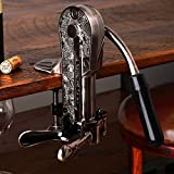 Legacy Corkscrew with Black Marble Handle - Pewter