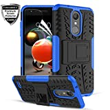 iCoold LG K30 Phone Cases,LG K10 2018 Case,LG Phoenix Plus/LG K10 Alpha/LG Harmony 2/Premier Pro LTE/LG CV3 Prime,W/Screen Protector Rugged Kickstand Dual Layer Shockproof Protective Phone Cover,Blue