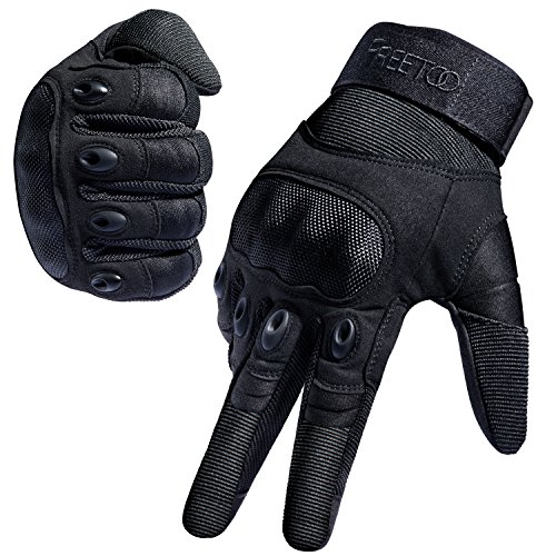 FREETOO Tactical Gloves Military Rubber Hard...