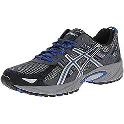 ASICS Men's Gel Venture 5 Running Shoe, Silver/Light Grey/Royal, 10.5 M US