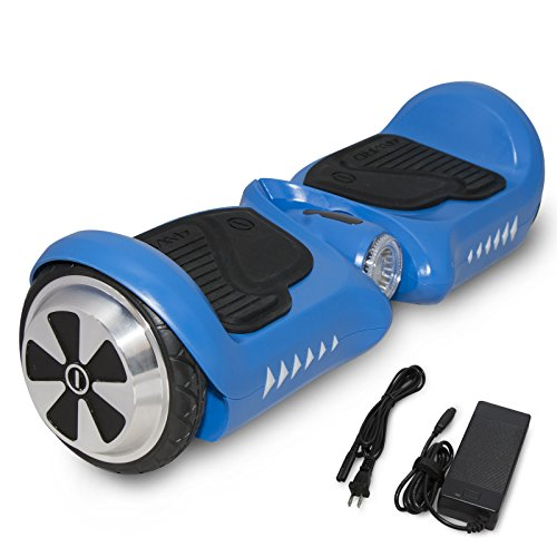 SURFUS Junior 4.5' Waterproof Hoverboard Matte UL 2272 Certified Self-Balancing Scooter LED Lights, Blue