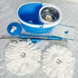 Valuebox 360°Spin Mop with Stainless Steel Bucket System Extended Length Handle&2 Microfiber Mop Heads, Spin Mop Bucket System, Magic Spinning Mop Cleaning System for Home Kitchen Floor Cleaning