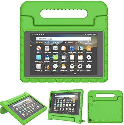 TIRIN All-New Fire HD 8 2018/2017 Case – Light Weight Shock Proof Handle Kid-Proof Cover Kids Case for All-New Fire HD 8 Tablet (7th and 8th Generation Tablet, 2017 and 2018 Release), Green