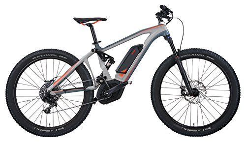 """IZIP E3 Peak DS 27.5"""" Full Suspension Electric Mountain Bike with 250W Bosch CX Mid-Motor and 36V, 500Wh Lithium Battery, 2018 Model, Grey, 19""""/Large"""