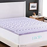 LUCID 2 Inch 5 Zone Lavender Memory Foam Mattress Topper - Full