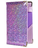 Of Course Holographic Glitter Server Book for Waitress and Waiter Zipper Pocket Premium 8x5 Organizer Wallet with 10 Money Pockets and Original 2 Tone Interior | Cute Fits Aprons (Pixie Dust)