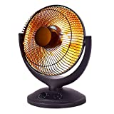Infrared Radiant Space Heater Compact Home Office Quiet Adjustable Thermostat Portable Free Space