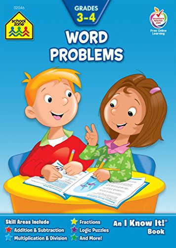 Word Problems Workbook Grades 3-4