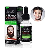 Beard Growth Oil, Sky-shop Natural Organic Hair Growth Oil Beard Oil Enhancer Facial Nutrition Moustache Grow Beard Shaping Tool Beard Care Products Hair Loss Products (30ml)