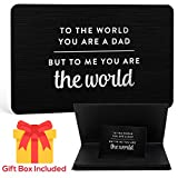 Engraved Metal Wallet Card with Gift Box - Unique Father's Day Gifts from Daughter or Son, Birthday Gifts for Dad Who Has Everything