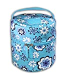 Essentielle Life - Essential Oil Diffuser Case, Essential Oil Diffuser Bag, Spacious Interior Padded Blue aqua Velvets Hold up to 12 Essential Oils ( Blue Flower Blossom)