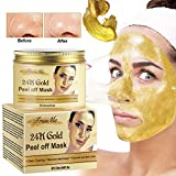 Blackhead Remover Mask, Blackhead Peel off Mask, Peel off Face Masks,24K Gold Facial Mask- Anti-Aging,Exfoliating Mask, Deep Cleansing Blackhead& Pore,Reduces Fine Lines& Wrinkles-120g