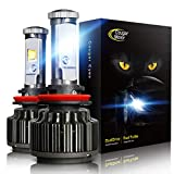 Cougar Motor LED Headlight Bulbs All-in-One Conversion Kit - H11 (H8, H9) -7,200Lm 6000K Cool White CREE
