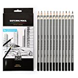 24 Drawing Pencils Set, Art Sketching Pencils 14B, 12B, 10B, 9B, 8B, 7B, 6B, 5B, 4B, 3B, 2B, B, HB, F, H - 9H, Shading Graphite Pencils for Adults & Kid Artists