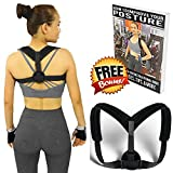 Posture Corrector for Man & Woman Adjustable (28''-48'') - Clavicle, Thoracic, Shoulder Support Brace to Improve Bad Posture, Upper Back Pain, Shoulder Alignment, Thoracic Kyphosis, Cervical Neck.