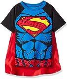 Warner Brothers Little Boys' Toddler Superman Cape T-Shirt Set, Blue, 5T