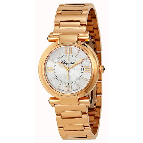 51KV5c3wVmL 18 kt polished rose gold case and bracelet Fixed 18kt rose gold bezel Mother of pearl dial with rose gold-tone hands and stick hour markers
