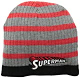 Warner Bros. Big Boys' Superman Reversible Beanie, Red, One Size