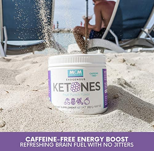 MCM Nutrition - Exogenous Ketones Supplement & BHB - Caffeine Free and Suppresses Appetite - Instant Keto Mix That Puts You into Ketosis Quick & Helps with The Keto Flu (Fruit Punch - 15 Servings) 8