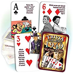 1949 Trivia Playing Cards