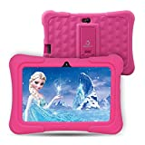 Dragon Touch Y88X Plus Tablet for Kids 16 GB 2019 Edition, 7' HD IPS Display WiFi Android Tablet, Kidoz Pre-Installed with All-New Disney Content (More Than $80 Value) - Pink