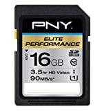 PNY Elite Performance 16GB High Speed SDHC Class 10 UHS-1 Up to 90MB/sec Flash Card - P-SDH16U1H-GE