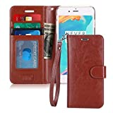 FYY Luxury PU Leather Wallet Case for iPhone 6S Plus/iPhone 6 Plus, [Kickstand Feature] Flip Folio Case Cover with [Card Slots] and [Note Pockets] for Apple iPhone 6 Plus/6S Plus (5.5') Dark Brown