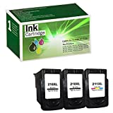 Limeink 3 Pack Remanufactured PG-210XL CL-211XL High Yield Ink Cartridges (2 Black, 1 Color) for Pixma iP2700 iP2702 MP230 MP235 MP240 MP260 MP270 MP280 MP480 MP490 MX320 MX330 MX340 MX410 MX420