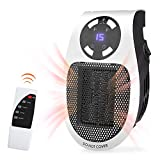 Narvokey Space Heater, Handy Plug-in Ceramic Portable Personal Compact Mini Heater Remote Controller for Home Room Office Bathroom