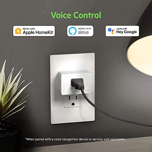 Wemo Smart Plug (Simple Setup Smart Outlet for Smart Home, Control Lights and Devices Remotely Works w/Alexa, Google Assistant, Apple HomeKit)(Pack of 1) 16