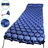 WEINAS Sleeping Pad, Ultralight Inflatable Sleep Pads for Camping Backpacking with Pillow Compact Air Mat Portable Lightweight Mattress for Hiking Hunting Traveling Fishing Biking