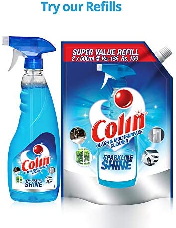 51Kjoti%2BTpL. AC  - ColinGlass and Surface Cleaner with Shine Boosters Refill, Regular - 1L
