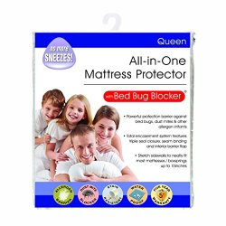 Bed Bug Blocker Hypoallergenic All-In-One Quiet Water Resistant Zip-Up Mattress Protector to Help Protect Against Bugs…