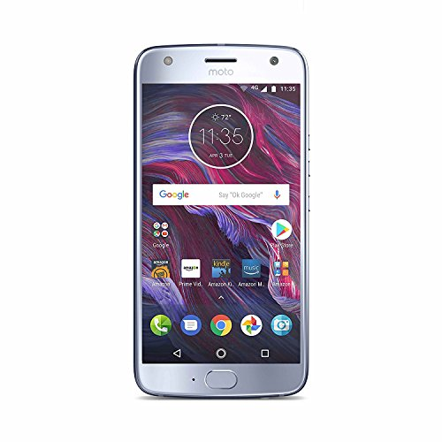 Moto X (4th Generation) with Alexa Hands-Free - 32 GB - Unlocked - Sterling Blue - Prime Exclusive