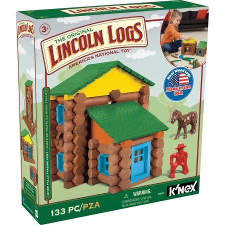 The Original Lincoln Logs River Falls Trading Post 133 Pieces