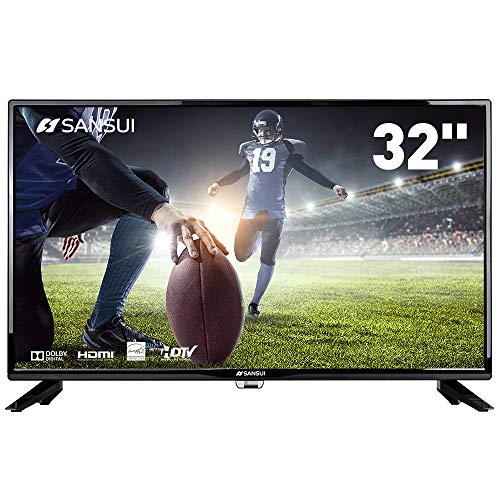 SANSUI TV LED Televisions 32' 720p TV with Flat Screen TV, HDMI PCA Input High Definition and Widescreen Monitor Display 2 HDMI (2018 Model)