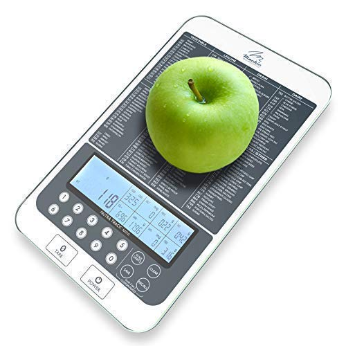 Mackie Digital Kitchen Scale, Food Scale with Nutritional Portions Facts Calorie and Macros Calculator (New Colors and Brighter Backlit Display) Best Quality