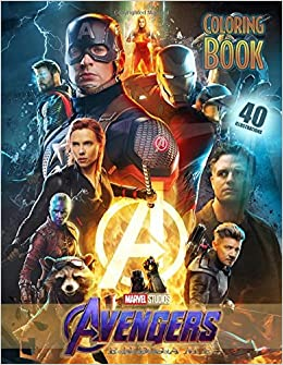 Amazon Com Avengers Endgame Coloring Book Coloring Books For Kids And Adults 40 High Quality Illustrations 9781075611957 Pb New World Books