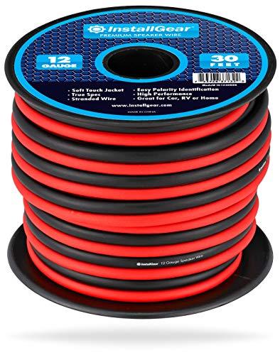 InstallGear 12 Gauge Speaker Wire (30-feet - Red/Black)