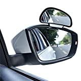 YASOKO 360 degree adjustable Wide Angle Side Rear Mirrors blind spot Snap way rear view mirror universal (Right, Black)