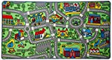 "Click N' Play City Life Kids Road Traffic Play mat Rug Large Non-Slip Carpet Fun Educational for Play area Playroom Bedroom-53"" x 39"""