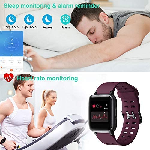 Willful Smart Watch for Android Phones Compatible iPhone Samsung IP68 Swimming Waterproof Smartwatch Sports Watch Fitness Tracker Heart Rate Monitor Digital Watch Smart Watches for Men Women Purple 6